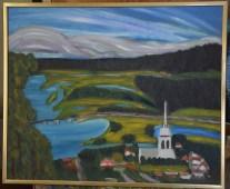 Faster Torborgs målning av Bränna.
