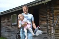 Min fine bror Andreas med lilla Vinga.