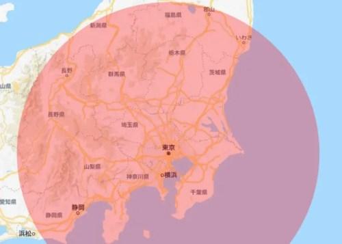 東京 200キロ圏内