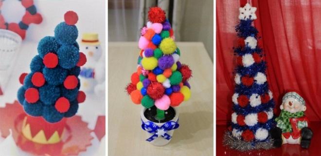 Árboles de navidad de Pomponov