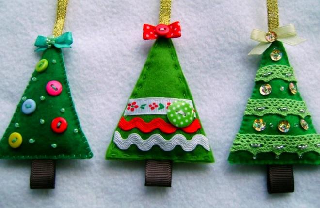 Árboles de navidad de fieltro