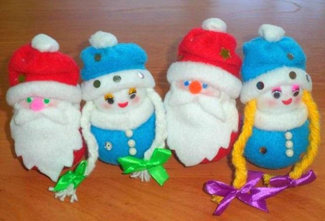 Vánoční hračky z fleece