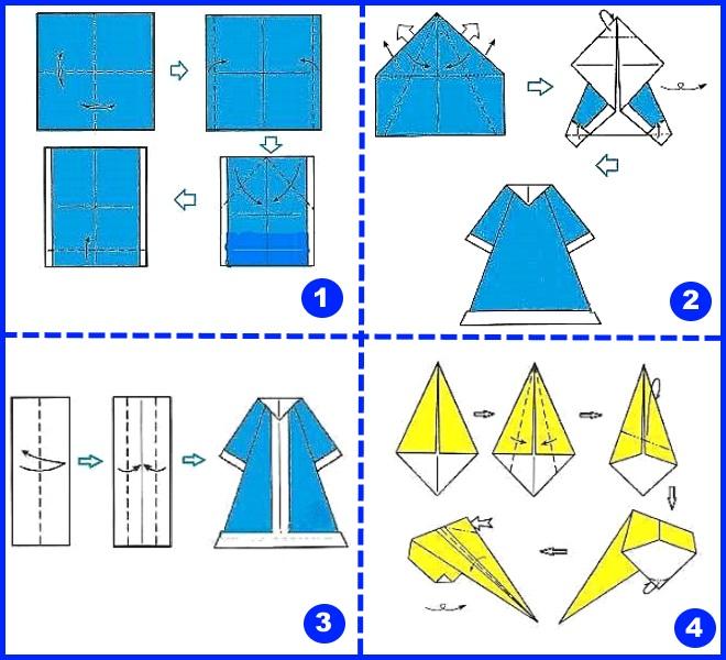 Sněhurka Origami 1.