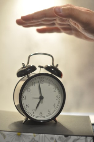 during daylight saving time you don't want to hit the snooze button