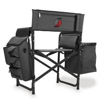 NBA-Portland-Trail-Blazers-Portable-Folding-Fusion-Chair-GreyBlack-0