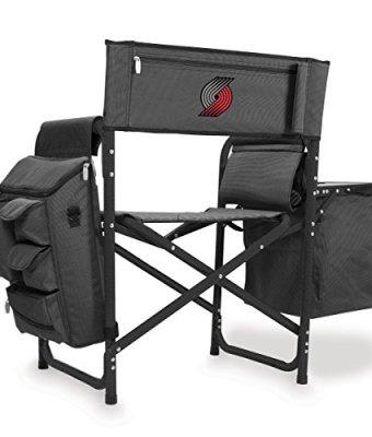 NBA-Portland-Trail-Blazers-Portable-Folding-Fusion-Chair-GreyBlack-0