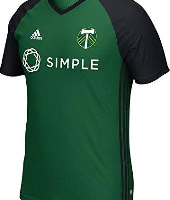 MLS-Portland-Timbers-Mens-Short-Sleeve-Training-Top-Medium-Greenblack-0