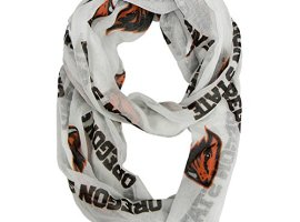 NCAA-Oregon-State-Beavers-Womens-Sheer-Infinity-Scarf-One-Size-White-0