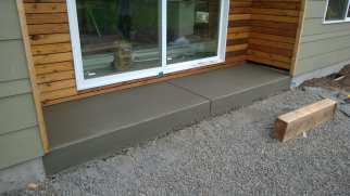 Side patio slab