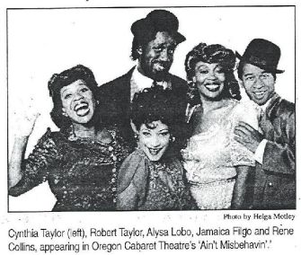 Ain't Misbehavin' Newspaper Clipping