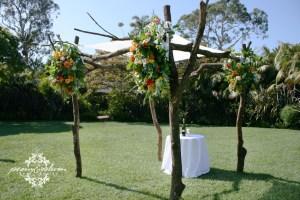 Flower Draped Wedding Chuppah