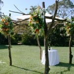 Flower Draped Wedding Chuppah