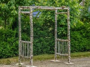 Easy-to-Assemble Birch Wedding Pergola