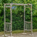 Easy-to-Assemble Birch Wedding Pergola