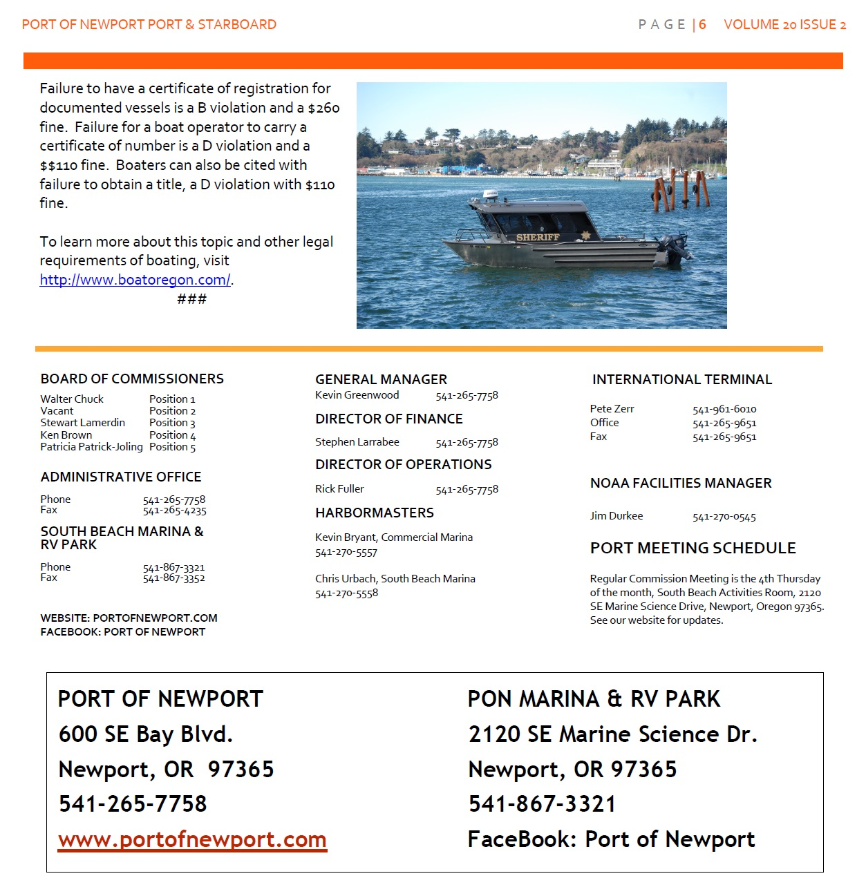 Jun2016 - Port of Newport - Port & Starboard Newsletter Volume 20 Issue 2 online edition 6