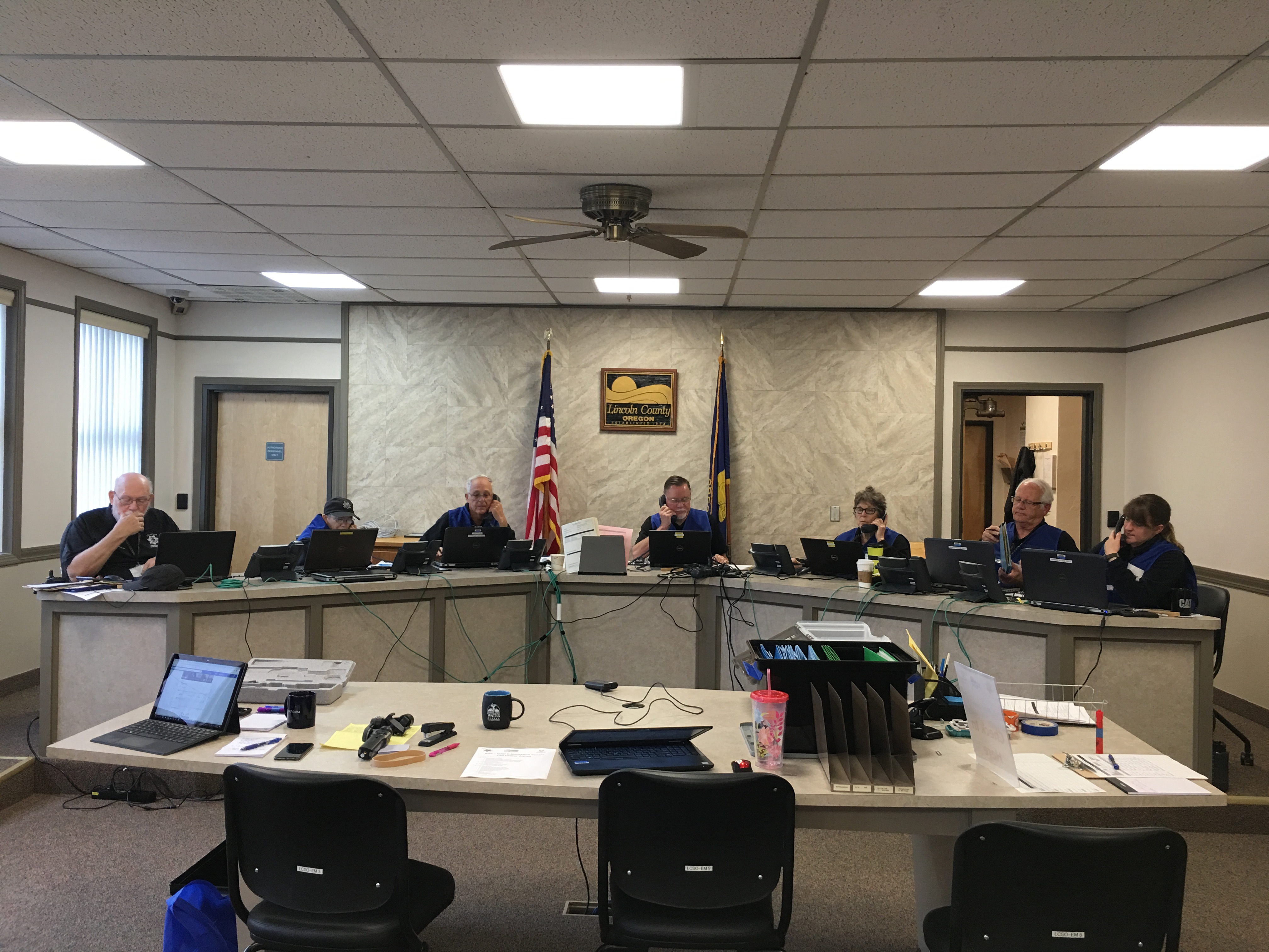 County Conducts Emergency Call Center Drill