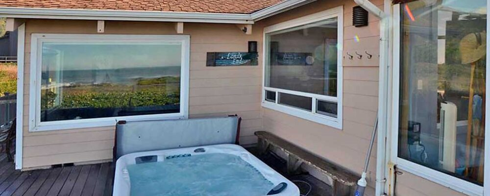 Hot Tub on Deck - Land's End Beach House