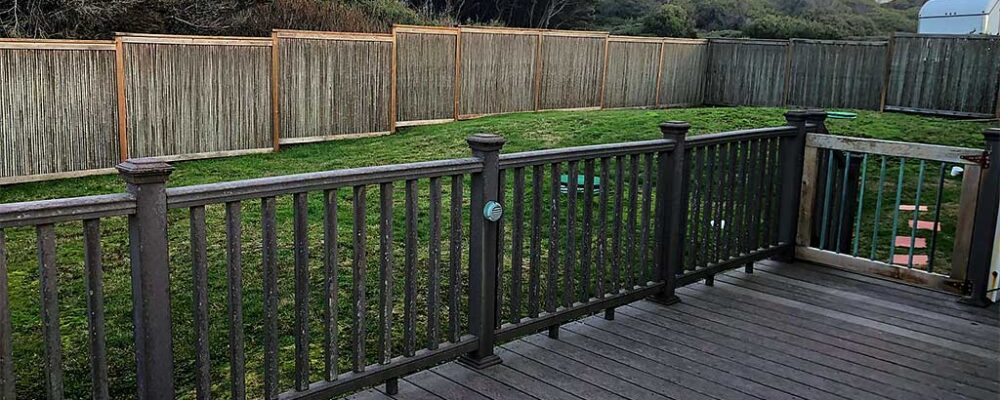 For your pets: fully fenced dog yard and gated deck