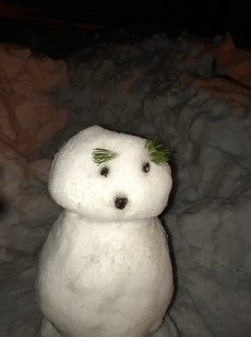 Our snowman, he wasn't finished yet :)