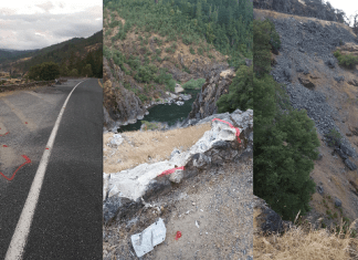 Vehicle Crashes into Hellgate Canyon Josephine County Oregon
