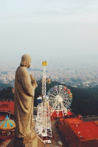 View from the church next to Tibidabo