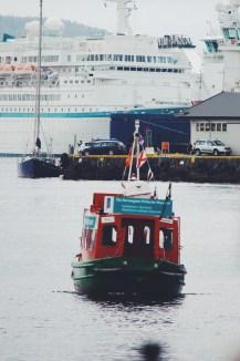 Harbor taxi in Bergen, Norway