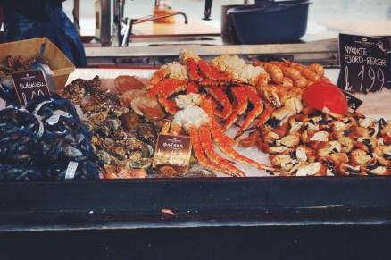 Fresh fish market, Bergen Norway
