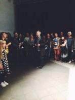Photographer Søren Solkær talking about his project SURFACE at Oksnehallen, Copenhagen