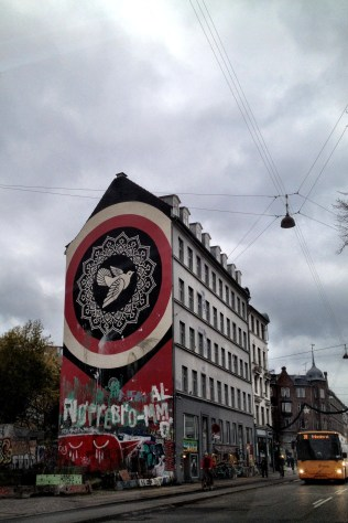 Devolution of Shepard Fairey's mural where it sits in Nørrebro neighborhood of Copenhagen when we first moved here in November, 2014