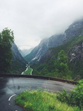 Hairpin this - bus ride to Voss, Norway