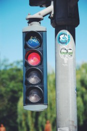 Stop lights specifically for bikes