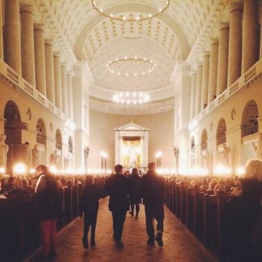 Kulturnatten 2015 Vor Frue Kirke, Copenhagen