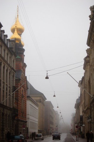 Russian Orthodox Church Copenhagen Denmark Fog