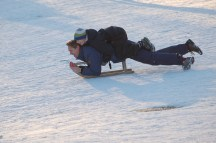 Sledding in Copenhagen
