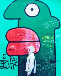 Detail from Thierry Noir - Hommage an die junge Generation, Berlin Wall
