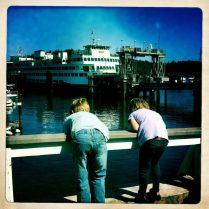 Watching the Washington State ferry docking