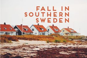 small swedish houses orange tile roof seaside Sweden