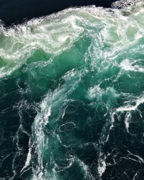 Aquamarine colors at World's Wildest Whirlpools | Saltstraumen near Bodo Norway | Oregon Girl Around the World