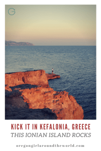 Kick it in Kefalonia Greece | Reasons this Ionian Island Rocks via Oregon GIrl Around the World