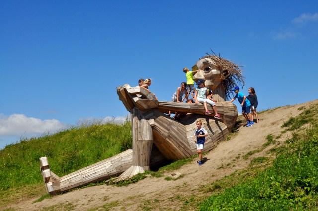 Hilltop Trine, one of Thomas Dambo's Forgotten Giants in Denmark