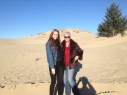 We headed to the coast and found the Dunes in Florence. Derek's shadow is photobombing us.