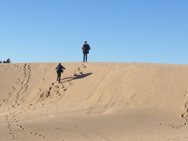 Of course the kids had to climb to the top of one of the dunes.
