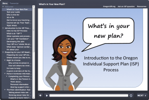 "Front screen of ""What's In Your ISP?"" online course"