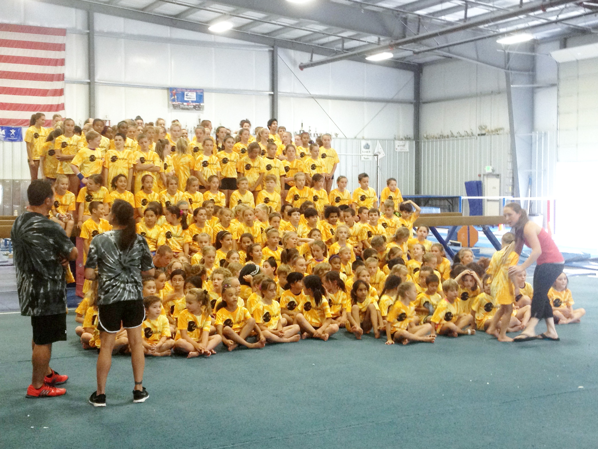 Dan Alchs Camp of Champions with Oregon Olympic Athletics Athletes from Bend Oregon