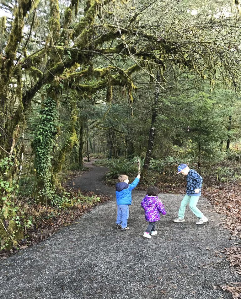 New hiking trail in Springfield, Oregon. Great for families and kids.