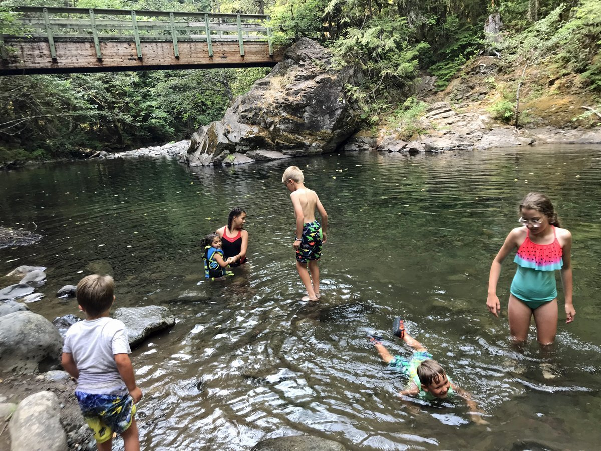 Swimming hole at Lund Park Campground