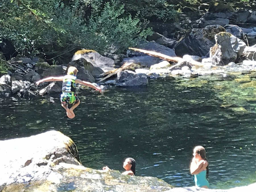 Swimming hole in Brice Creek near Hobo Campground