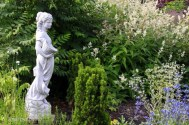 Amelia Statue in garden at Laurel Hedge S Andrews photo