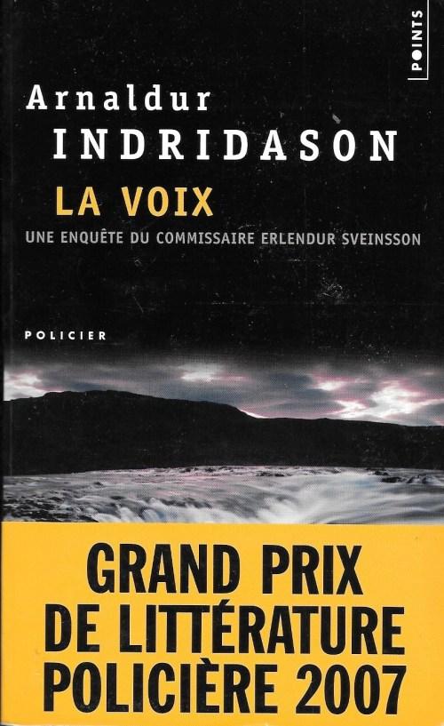 Arnaldur Indridason, la Voix, 2007, couverture