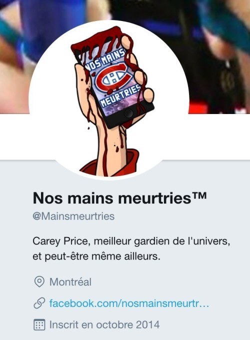 Compte Twitter Nos mains meurtries